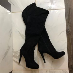 Jessica Simpson Over-The-Knee Black Boots Size 8.5